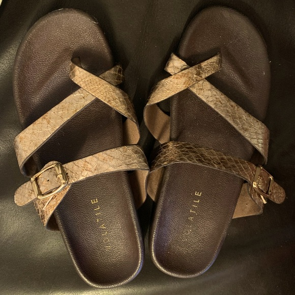 Gold & Brown Volatile Sandals!